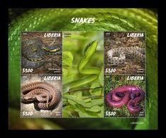 Liberia 2020 Mih. 7721/24 Fauna. Snakes MNH ** - Liberia