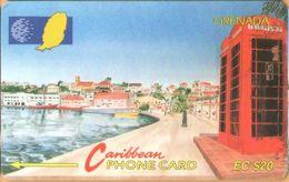 Grenada - GPT, GRE-5B, 5CGRB, Carenage St Georges, 20 EC$, Buildings, 12,000ex, 1992, Used As Scan - Grenada