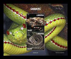 Liberia 2020 Mih. 7725/26 (Bl.836) Fauna. Snakes MNH ** - Liberia