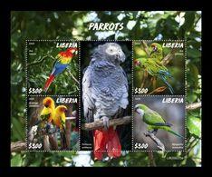 Liberia 2020 Mih. 7727/30 Fauna. Birds. Parrots MNH ** - Liberia