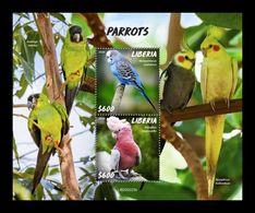 Liberia 2020 Mih. 7731/32 (Bl.837) Fauna. Birds. Parrots MNH ** - Liberia