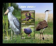 Liberia 2020 Mih. 7737/38 (Bl.838) Fauna. Rare Birds I MNH ** - Liberia