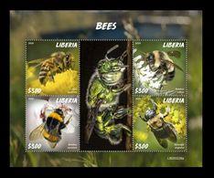 Liberia 2020 Mih. 7745/48 Fauna. Bees MNH ** - Liberia