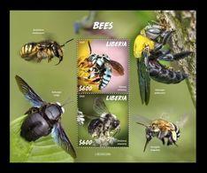Liberia 2020 Mih. 7749/50 (Bl.840) Fauna. Bees MNH ** - Liberia