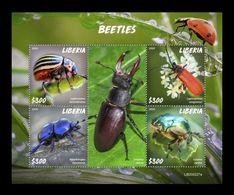 Liberia 2020 Mih. 7751/54 Fauna. Beetles MNH ** - Liberia