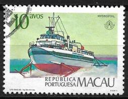 Macau Macao – 1986 Boats 10 Avos Used Stamp - Macao