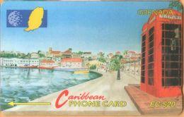 Grenada - GPT, GRE-105A , 105CGRA, Carenage St Georges, 20 EC$, Buildings, 37,000ex, 1997, Used As Scan - Grenada