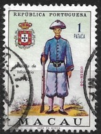 Macau Macao – 1966 Military Uniforms 1 Pataca Used Stamp - Macao