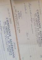 Chèques Banque 1958 Companie Française Algerienne - Chèques & Chèques De Voyage