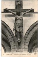 3TX 846 CPA - MORTAIN - INTERIEUR DE LA COLLEGIALE - LE CHRIST - Altri Comuni