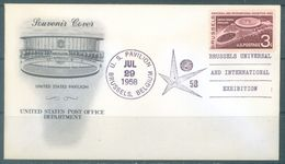 USA - 1958 - SOUVENIR COVER - EXPO 1958 BRUSSELS US PAVILION -  Yv 638 Mi 724 - Lot 21753 - 1958 – Brussels (Belgium)