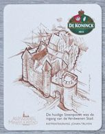 Sous-bock DE KONINCK 1833 Steenpoort Antwerpen Miniatuurstad Johan Truyen Bierdeckel Bierviltje Coaster (N) - Portavasos