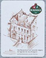 Sous-bock DE KONINCK 1833 Reuzenhuis Antigoon Antwerpen Miniatuurstad Johan Truyen Bierdeckel Bierviltje Coaster (N) - Portavasos