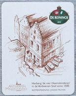 Sous-bock DE KONINCK 1833 Herberg Heemskinderen Antwerpen Miniatuurstad Johan Truyen Bierdeckel Bierviltje Coaster (N) - Portavasos