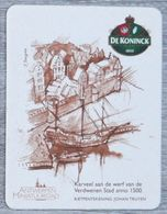 Sous-bock DE KONINCK 1833 Karveel Antwerpen Miniatuurstad Johan Truyen Bierdeckel Bierviltje Coaster (N) - Portavasos