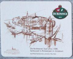 Sous-bock DE KONINCK 1833 Verdwenen Stad Antwerpen Miniatuurstad Johan Truyen Bierdeckel Bierviltje Coaster (N) - Portavasos