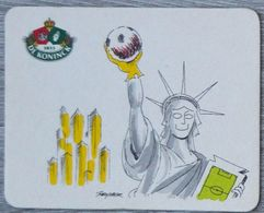 Sous-bock DE KONINCK Statue De La Liberté New York Football Bierdeckel Bierviltje Coaster (CX) - Portavasos