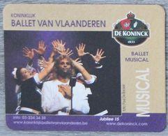 Sous-bock DE KONINCK Ballet Van Vlaanderen Musical Jubilee 15 Bierdeckel Bierviltje Coaster (CX) - Portavasos
