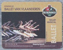 Sous-bock DE KONINCK Ballet Van Vlaanderen Musical Sleeping Beauty Bierdeckel Bierviltje Coaster (CX) - Portavasos