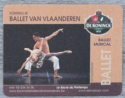 Sous-bock DE KONINCK Ballet Van Vlaanderen Musical La Sacre Du Printemps Bierdeckel Bierviltje Coaster (CX) - Portavasos