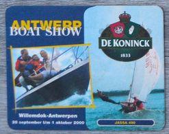 Sous-bock DE KONINCK Antwerp Boat Show Willemdok-Antwerpen 2000 Anvers Jassa 490 Bierdeckel Bierviltje Coaster (CX) - Portavasos