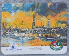 Sous-bock DE KONINCK Portival 2002 Antwerpen Anvers Amanda Jordaens (haven Port) Bierdeckel Bierviltje Coaster (CX) - Portavasos