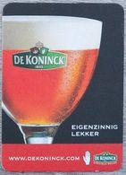 Sous-bock DE KONINCK Eigenzinnig Lekker Bierdeckel Bierviltje Coaster (CX) - Portavasos