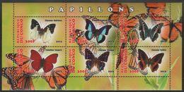 Congo Republic - Butterflies - MNH S/s - Repubblica Del Congo (1960-64)
