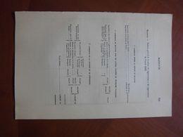 Mayotte : Document De Travail Sur Le Commerce De La Colonie En 1885 Avec De Multiples Statistiques. - Historische Dokumente