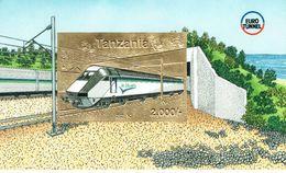 Tanzania Trains Euro Tunnel Sheetlet MUH - Tanzania (1964-...)
