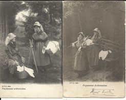 Luxembourg - Deux Cartes Postales - Paysannes Ardennaises, Cartes D.V.D. N°8990 Et 8988 - Non Classés