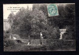 1 - Le Lac De SETTONS (58 Nièvre) Cascade - Belle Dame à Chapeau Et Son Ombrelle à La Main (Cliché E. Caïus) - Autres Communes