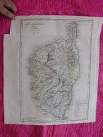 France: Rare Et Grande Carte Du Département De La Corse De 1826 Par Perrot Et Aupick. - Landkarten