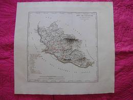 France: Rare Et Grande Carte Du Département Du Vaucluse De 1823 Par Perrot Et Aupick. - Landkarten