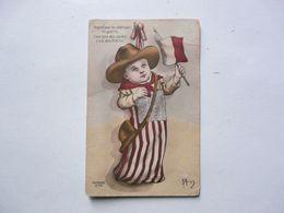 CPA HOURRA POUR LES AMERICAINS EN GUERRE ... 1918 - Patriottiche