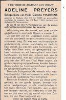 Klerken, Loppem, 1946, Adeline Preyers, Maertens - Santini
