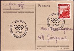 Austria - 1948 - Olympic Games 1948 - Card - Summer 1948: London