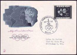Austria - 1952 - Olympic Games 1952 - FDC Card - Verano 1952: Helsinki