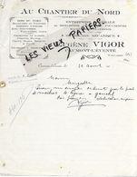 14 - Calvados - CAUMONT-L'EVENTE - Facture VIGOR - Menuiserie, Charpente, Couverture, Maçonnerie, Etc - 191? - REF 158A - Francia
