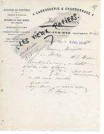 14 - Calvados - DIVES-SUR-MER - Facture MARIE - Carrosserie, Charronnage - 1909 - REF 158A - Francia