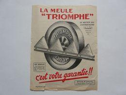 """VIEUX PAPIERS - PUBLICITE :La Meule """" TRIOMPHE"""" - Pubblicitari"""