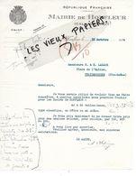 14 - Calvados - HONFLEUR - Facture MAIRIE DE HONFLEUR - 1934 - REF 158A - Francia