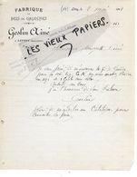 14 - Calvados - LITTRY - Facture GESLIN - Fabrique De Bois De Galoches - 1912 - REF 158A - Francia