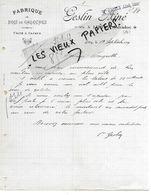 14 - Calvados - LITTRY - Facture GESLIN - Fabrique De Bois De Galoches - 1919 - REF 158A - Francia