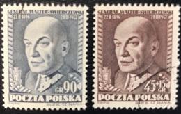 Polska - Poland - Polen - P1/4 - (°)used - 1952 - Sterfdag Swierczewski -  Michel Nr. 726#727 - Used Stamps