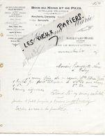 14 - Calvados - LITTRY-LES-MINES - Facture MARIE - Menuiserie, Charpente, Serrurerie, Bois  - 1907 - REF 158A - Francia