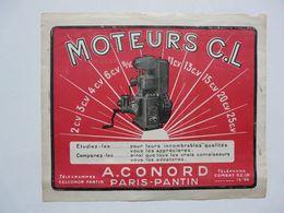 VIEUX PAPIERS - PUBLICITE : CONORD - MOTEURS C.L - 2CV... - Pubblicitari
