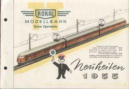 Cataogue ROKAL 1955 Neuheiten MODELLBAHN 12 Mm Spurweite TT - Libros Y Revistas