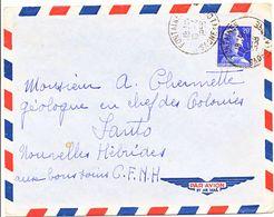 SAONE ET LOIRE ENV 1958 FONTAINES / 20F MULLER => NOUVELLES HEBRIDES (BONNE DESTINATION) LETTRE AVION - 1921-1960: Periodo Moderno