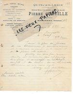 15 - Cantal - MARCENAT - Facture QUEUILLE - Quincaillerie, Fers, Fontes, Métaux, Clouterie, Etc - 1912 - REF 158A - Francia